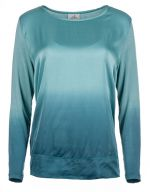 Deha Dámská halenka Long Sleeve Tee D83570 Blue Tiffany M