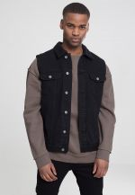 Urban Classics Denim Vest black dark - S